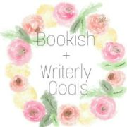 bookish + writerly goals graphic