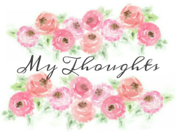 watercolor my thoughts graphic